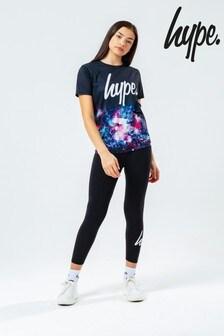 Hype. Black Space Print Kids T-Shirt And Leggings Set