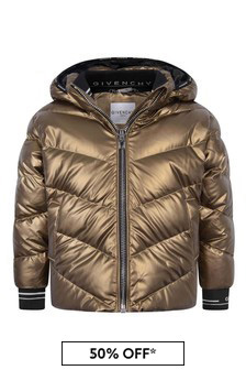 Girls Gold Down Padded Jacket