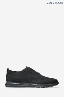 Cole Haan Black Grand Stitchlite Wing Oxford Lace-Up Shoes