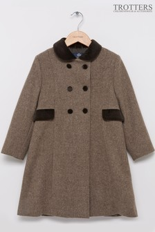 Trotters London Tweed Classic Coat
