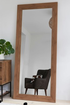 Bronx Wood Effect Floor Mirror