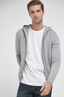 Grey Premium Knitted Hoody