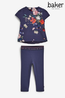 Baker by Ted Baker Navy Floral Legging Set