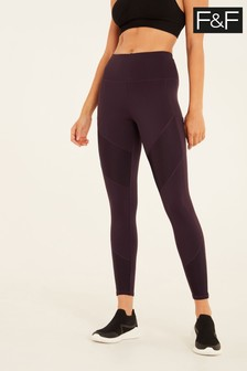 F&F Pickled Beet Panelled Leggings