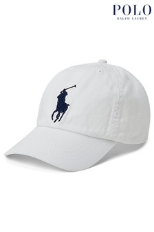 Ralph Lauren White Big Pony Cap