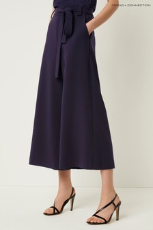 French Connection Blue Whisper Belted Culottes