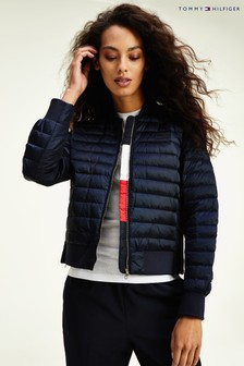 Tommy Hilfiger Blue Icon Stacey Down Bomber Jacket