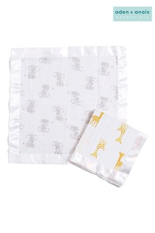 aden + anais Safari Babes Essentials Security Blankets Two Pack