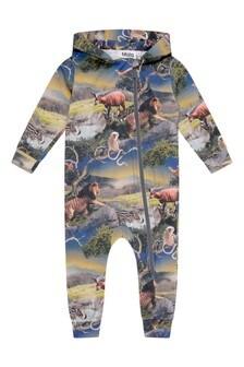 Baby Boys Future Animals Organic Cotton Coverall