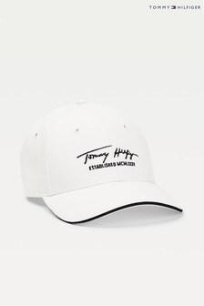 Tommy Hilfiger White Signature Cap