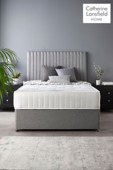 Catherine Lansfield Soho Divan Set With Ortho Pocket Mattress Grey