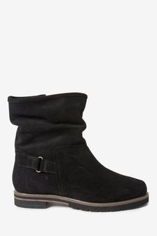 Black Extra Wide Fit Forever Comfort® Slouch Weekender Boots