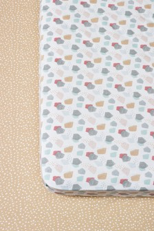 2 Pack Safari Days Cotton Fitted Sheets