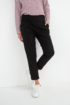 Black Maternity Relaxed Taper Chinos