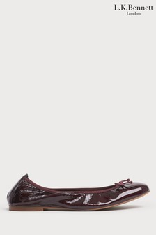L.K.Bennett Red Trilly Patent Leather Ballerinas