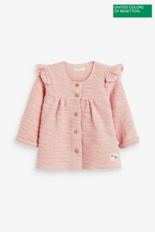 Benetton Pink Frill Jacket