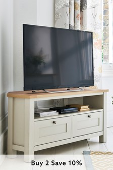 Malvern Cream Corner TV Stand