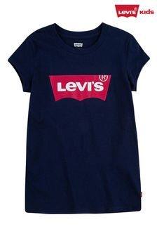 Levi's Navy With Pink Batwing T-Shirt