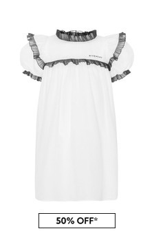 Givenchy Kids Girls White Cotton Dress