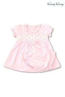 Kissy Kissy Pink Hand Embroidered Dress
