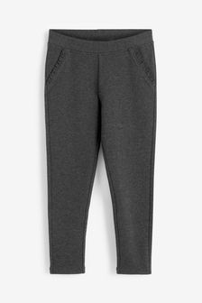 Charcoal Frill Detail Trousers (3-16yrs)