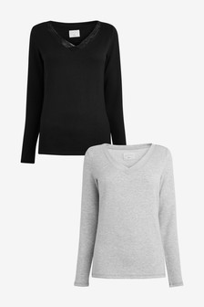 Black/Grey 2 Pack Thermogen Tops