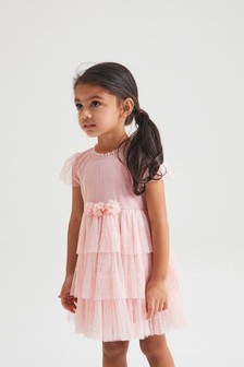 Pink Mesh Corsage Dress (3mths-7yrs)