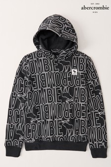 Abercrombie & Fitch Logo Overhead Hoodie