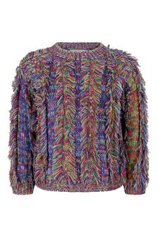 Girls Multicoloured Space Dyed Knitted Jumper