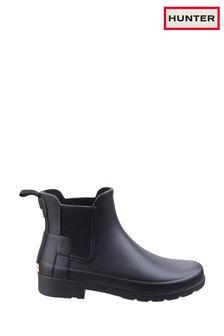 Hunter Black Original Refined Chelsea Boots