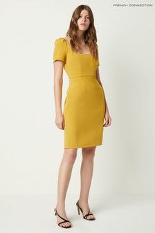 French Connection Yellow Awitti Whisper Ruth Bodycon Dress