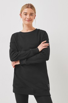 Black Longline Sweatshirt