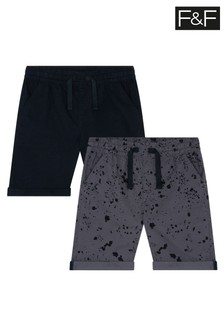 F&F Grey Ripstop Shorts Two Pack