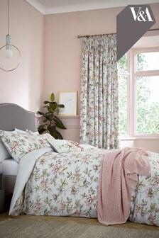 V&A Peony Blossom Duvet Cover and Pillowcase Set