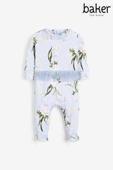 Baker by Ted Baker Floral Frill Sleepsuit