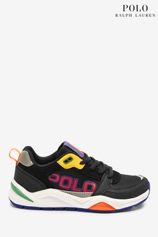 Ralph Lauren Black Mesh Trainers