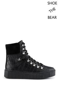Shoe The Bear Black Agda Croc Boots