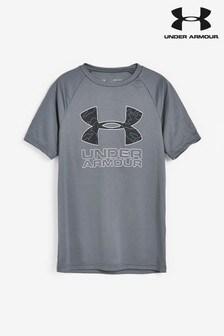 Under Armour Boys Tech Hybrid Print T-Shirt