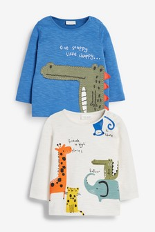 Bright 2 Pack Crocodile T-Shirts (0mths-3yrs)