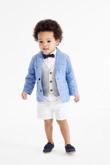 Multi Blazer, Waistcoat, Shirt & Shorts Set (3mths-9yrs)