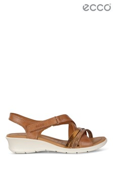 ECCO® Felicia Multi Strap Low Wedge Sandals