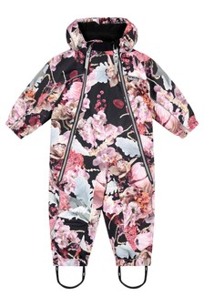 Baby Girls Pink Bouquet Snowsuit