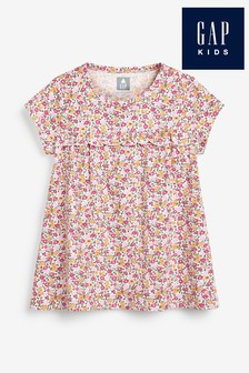 Gap Floral Ruffle Jersey Dress