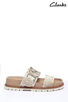 Clarks Taupe Combi Orianna Sun Sandals