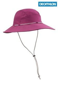 Decathlon Womens' Anti-UV Trek 500 Purple 60-62cm Hat
