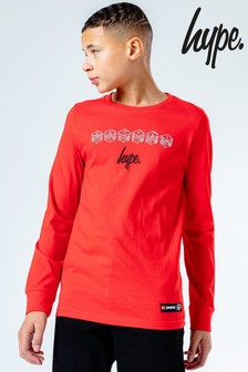 Hype. Kids Red Lego® Ninjago Justhype Long Sleeve T-Shirt