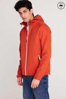 Burnt Orange Shower Resistant Jacket With Fleece Lining