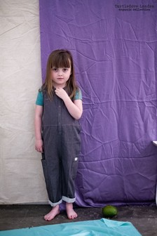Turtledove London Green Organic Cotton Cheesecloth Tank Dungarees