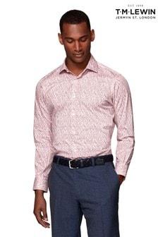 T.M. Lewin Slim Fit Burgundy Paisley Shirt