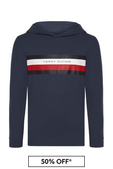 Tommy Hilfiger Boys Navy Cotton Hoody